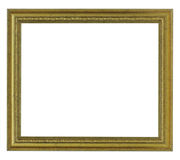 Horizontal old gold frame Royalty Free Stock Photography