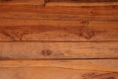 Horizontal old rough Wood lid texture wall texture background. Royalty Free Stock Photography