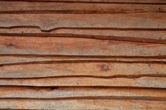Horizontal old rough Wood lid texture wall texture background. Royalty Free Stock Image
