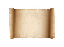 Horizontal Old Scroll paper Stock Images