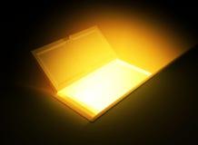 Horizontal Open Door Light. Opening 3d Door Light, isolated Stock Images
