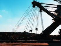 Horizontal orange sand mining machine Royalty Free Stock Images