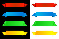 Horizontal origami banners Royalty Free Stock Photo