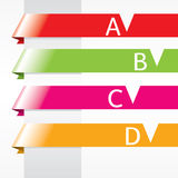 Horizontal Origami Ribbon Banners. Stock Images
