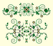 Horizontal ornament with flower. And curl Royalty Free Stock Photography