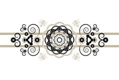 Horizontal ornament with flower Royalty Free Stock Photography