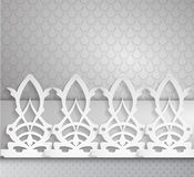Horizontal ornament on a gray background.  Stock Illustration