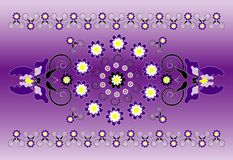 Horizontal ornament with iris Stock Photos