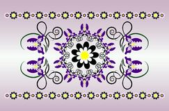 Horizontal ornament with iris Royalty Free Stock Photo