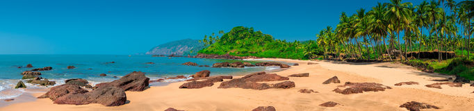Horizontal panorama with a view of the tropical island Stock Images
