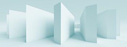 Horizontal Panoramic Design. 3d Abstract Horizontal Panoramic Design Royalty Free Stock Images