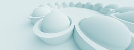 Horizontal Panoramic Design. 3d Abstract Horizontal Panoramic Design Royalty Free Stock Photo