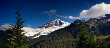 Horizontal Panoramic Mt Baker Heliotrope Ridge Cascade Range royalty free stock photo
