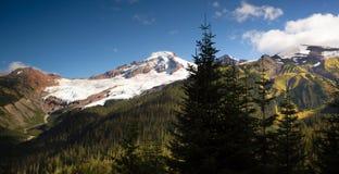 Horizontal Panoramic Mt Baker Heliotrope Ridge Cascade Range Stock Photo