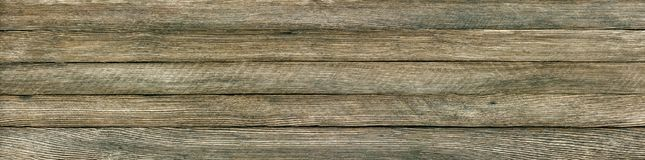 Panoramic retro grunge background of wooden planks. Horizontal panoramic retro grunge background of wooden planks royalty free stock photo
