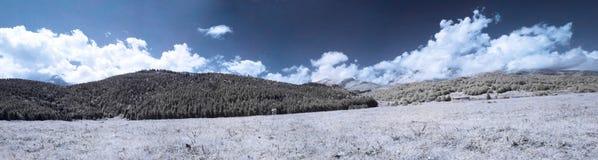Horizontal panoramique infrarouge Photo libre de droits
