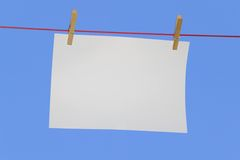 Horizontal paper on line Stock Image