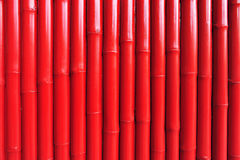 Horizontal pattern of red bamboo Stock Photo
