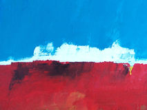 Horizontal peint/ciel + océan abstraits d'île Photos stock