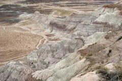 Horizontal peint de désert Photos libres de droits