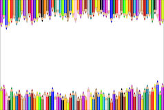 Horizontal pencil background Stock Photography