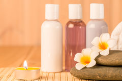 Horizontal Photo of objects for spa treatments Royalty Free Stock Photography