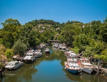 River and boats Stock Photography
