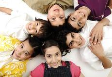 Horizontal photo of six children stock images
