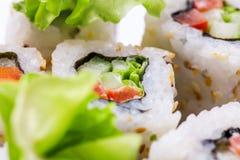 Horizontal photo of vegitable roll Stock Photography