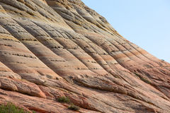 Horizontal photograph of checkerboard mountain Stock Image