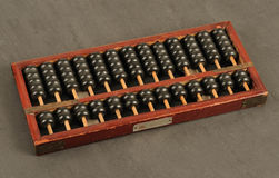 Ancient Chinese abacus Stock Images