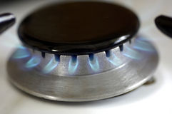 Gas stove. Horizontal picture of a gas stove Stock Image