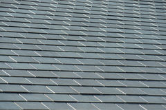 Horizontal picture of slates on a roof Stock Images