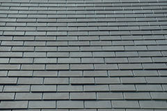Horizontal picture of slates on a roof Royalty Free Stock Photo