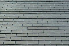 Horizontal picture of slates on a roof Royalty Free Stock Images