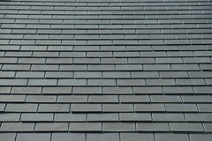 Horizontal picture of slates on a roof Stock Photography