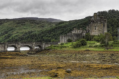 Horizontal of the picturesque Castle of Eilean Donan in Scotland Stock Photo