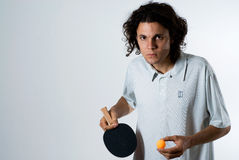horizontal ping player pong Στοκ Φωτογραφία