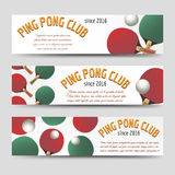 Horizontal ping pong banners Stock Photo