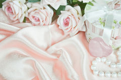 Horizontal pink composition Stock Images