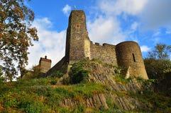 Horizontal pittoresque avec le Burg Stolpen. l'Allemagne photo stock