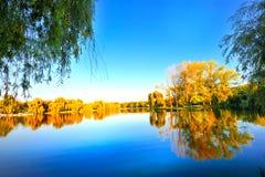 Horizontal pittoresque d'automne Photo stock