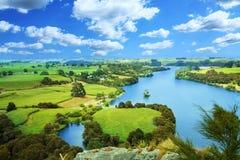 Horizontal pittoresque de la Nouvelle Zélande Photographie stock