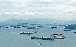 Horizontal pittoresque de mer. Île de Sichang, Thailan Images stock