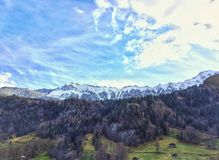 Horizontal pittoresque de montagne Images stock