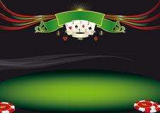 Horizontal poker background Stock Images