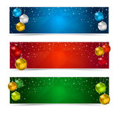 Horizontal Polygon Christmas Banners Royalty Free Stock Photos