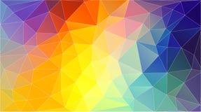 Horizontal polygonal banner. Vector Background vector illustration
