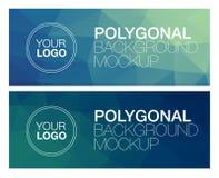 Horizontal polygonal banners Stock Image