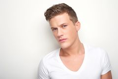 Horizontal Portrait of Handsome Man Stock Photo